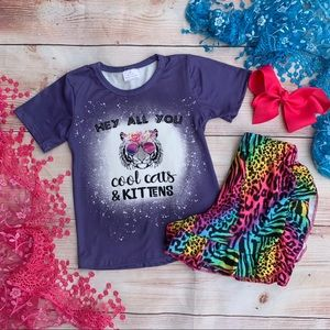 Boutique Girls 3pc COOL CATS & KITTENS